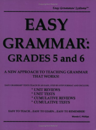 Image for Easy Grammar: Grades 5 & 6 (teacher's edition)